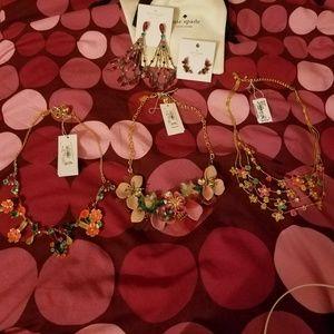 3 rare & beautiful Kate Spade statement necklaces